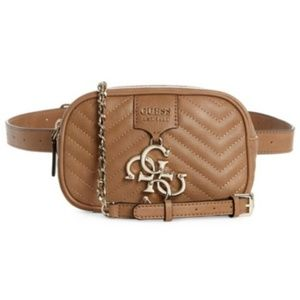 New Guess Covertible Tan Crossbody & Belt Bag!